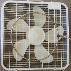 Misting Fan Kit on Fan